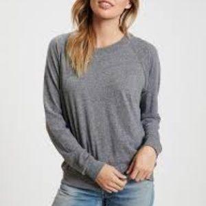 Nation Ltd raglan sweatshirt heather gray NWOT!